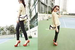 Michelle Djajawisastra - Aldo Envelope Bag, Mango Sunnies, Forever 21 Legging, Stradivarius Knit Sweater - LOVE FOR A GOLDFISH