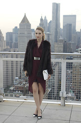 Pavlina J. - H&M Burgundy Coat, H&M Asymmetric Dress, Topshop Shoes - MMM with H&M launch party