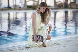 Anna Vershinina - Zara Dress - By The Pool