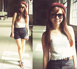 Joyce Cai - Sm Department Store Hat, Topshop Crop Top, Zara Shorts - That sunny friday