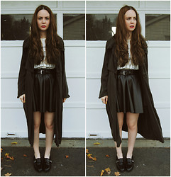 Stacey Belko - Minimarket Trench Coat, Kill City T Shirt, Forever 21 Skirt, Shoemint Shoes - In the trenches.
