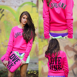 Maryana Yusypchuk - Victoria's Secret Sweater, Victoria's Secret Shorts - Life in color