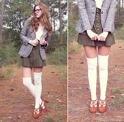 Anneliese McClain - Asos Knee High Socks, Entourage Tweed Jacket - I Saw Her Standing There