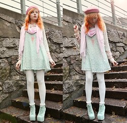 Anna Salo - Monki Dress, Merry Go Round Design Necklace, Jeffrey Campbell Shoes - Show me your pastel love