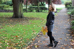 Lucy L - Topshop Speckle Tee Dress, Zara Quilted Leather Jacket, Topshop Amble Boots - Camden Square