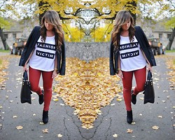 Karolina F. - Zara Jeans, Shoot,Girl T Shirt - FASHION VICTIM