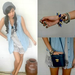 Erika Aguilar - H&M Laced, Levi's® Levi's Denim Vest - Something Denim