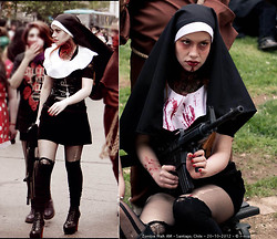 Andrée Arellano - Diy Nun Costume - Zombie Walk