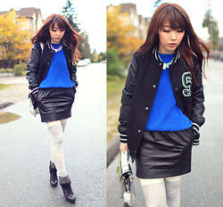 Ivy Xu - H&M Jacket, American Apparel Sweater, Urban Outfitters Skirt, Alexander Wang Bag - Before the rain