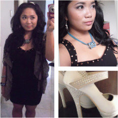 Trixie Manlangit - Pinkbox Accessories Hair Clip, Pink Manila Studded Dress, Necklace, Studded Shoes - Studs is In! My LBD
