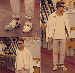 Andreas Wijk - Wrangler Jacket, Weekday T Shirt, Acne Studios Jeans, Gram Shoes - The Stand.