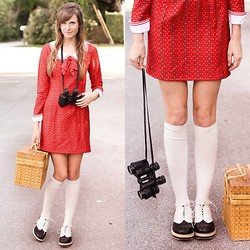 Steffy Degreff - Tea And Tulips Suzy Bishop Dress, Wanted Shoes Oxfords - Suzy bishop- moonrise kingdom ♥