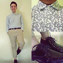 JP Dela Cruz - Main Street Printed Long Sleeves, Maphisto Dress Shoes - I've been thinking about forever...