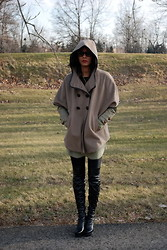 Gail C - Riess Cashmere Cape Coat, Kg Boots - Thank God Winters Back!