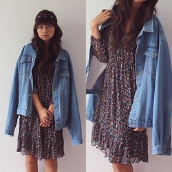 Maria H. - Vintage Jeansjacket, Ernsting's Family Dress - Summertime Sadness