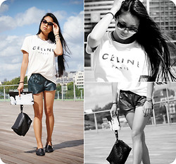 Uliana Kim - Céline Tee, Killiwatch Shorts, Alexander Wang Clutch, Steve Madden Shoes - Moon Roof