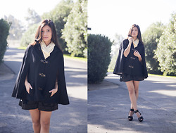 Vanessa R - Zara Shoes, Jarlo London Cape - Time for Capes