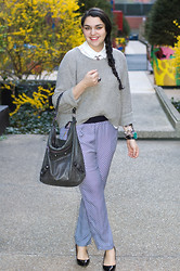 Gabriela Monsanto - Equipment Blouse, Vince Sweater, Balenciaga Bag, Zara Pants, Zara Shoes, Jewelmint Necklace - Pajama Story