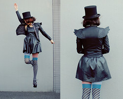 Shan Shan - Choies Jacket, Choies Dress, Vivienne Westwood Tights, Jeffrey Campbell Shoes, Romwe Bag - Fly with wings