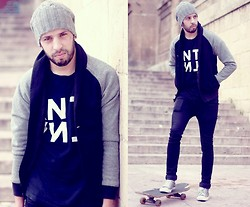 Yassine Amlal - Zara Hats, Zara Jacket, 5preview Shirts, H&M Skinny Black Jeans, Converse Shoes - Can never change