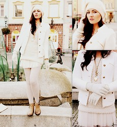 Monika Masina - Stradivarius Jacket, Mohito Sweater - White heaven