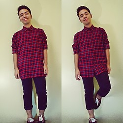 JP Dela Cruz - American Apparel Oversized Flannel Shirt, Vans Sneakers - We've reached the climax...