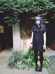 Jenna G - H&M Black Dress, An*Tai*Na Mary Jane Platforms, Urban Outfitters Ankh Necklace - Parish of St.Mark