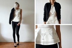 Sietske L - Sheinside Leather Peplum Top - You want a cocktail?