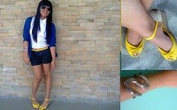 Meredith Fuerte - Shoe Salon Ribbon Wedge, Kamiseta Cardigan, Esprit Buttton Up, From Ate Macy Yellow Belt, Tinderbox Snake Bracelet, Vetafs Superstore Shades, Seven Dials Black Short - Brought me to the light=)))