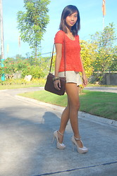 SalveeLangella Retuya - Oleg Cassini Bag, Lace Peplum Top, Lace Shorts - Lace on Lace