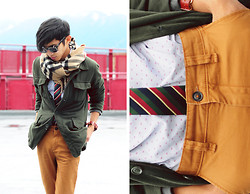 Mc kenneth Licon - Burberry Scarf, Triwa Watch - Tucked in Tie (repost)