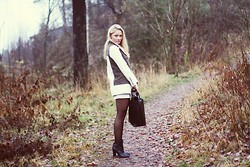 Marie Wolla - Zara Jacket, Zara Boots, Forever 21 Skirt - Army green