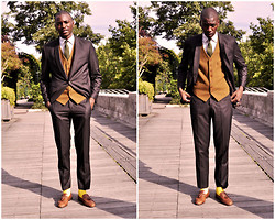 Roger Mbee - Izac Suit, Brookbrother Shirt, Vintage Shoes - Suit & Chic