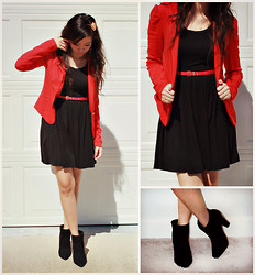 Maricris Lucero - Forever 21 Black Dress, A'gci Red Blazzer, High Heels Black Boots - Will I ever see you?