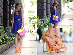 Laureen Uy - Shop Bella Dress, Alexander Mcqueen Belt, Girls Are Weird Necklace, Bagfull Bag, Feet For A Queen Shoes - Color Block (BMS)