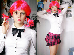 Alice Lovett - H&M Blouse, Fhori Schoolgirl Skirt, Metamorphose Hair Elastic - Pink Sugar Heart Attack!