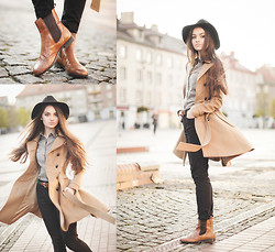 Style on Camera _ - Vagabond Shoes, H&M Coat, Tally Weijl Pants, Second Hand Belt, H&M Shirt, H&M Ring, Glitter Hat - Karma