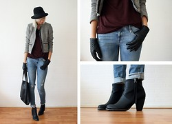 Sietske L - Mexx Jacket, Top And Gloves, H&M Jeans And Bag, Nelly Shoes - Classic