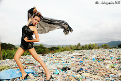 Shelvie Fernan - Diy Trashbag Gown, Wink Pumps, Forever 21 Earrings - Reuse. Reduce. Recycle.
