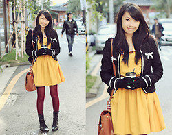 Sophie Ramos - Bratinela Fazhion Yellow Mustard Dress, Shoppe Unlimited Bag - Autumn