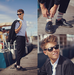 Andreas Wijk - Acne Studios Shirt, Hope Trousers, The Local Firm Jacket, Dr. Martens Shoes - Awakening.