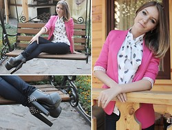 Viktoria Vyshnykova - Vero Moda Jeans, Zara Blazer, My1stwish Shoes - Good girl - bad girl