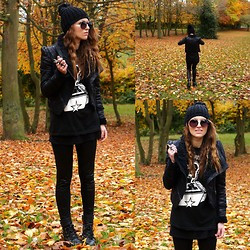 Agata P - Romwe Jacket, H&M Beanie, Secondhand T Shirt - Going Down In A Blaze Of Glory