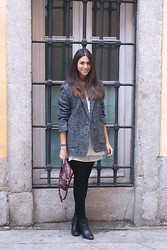 Rocío Lafuente - Mango Jacket, H&M Leather Skirt, H&M Booties - Different places