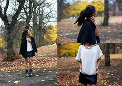 India Rose - Asos Bomber Coat, Nelly Necklace, Vintage Leather Skirt, Asos Sweat T Shirt, Dr Marten Chelsea Boots - WHY DO U FEEL