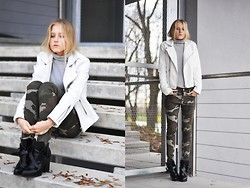 Dominica Justyna - Sheinside Camo Pants, Sheinside Leather Jacket, Zara Boots - CAMO!