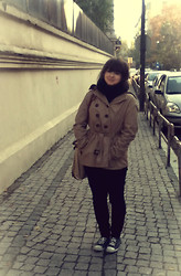 Patricia D. - H&M Black Scarf, C&A Trench Coat, H&M Black Pants - Days of November..