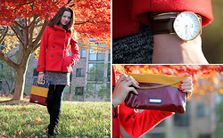 Elena Fay - Daniel Wellington Watch, Steve Madden Bag, H&M Jacket, Naughty Monkey Boots - Fall colors