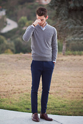 Edward Honaker - Brooks Brothers Shirt, J Lindeberg Sweater, Gant Rugger Pants, Bostonian - Smh