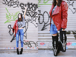 Aida Domenech Aida D - Fashion Pills Jacket, Highheelssuicide Shirt, Mango Jeans, Jeffrey Campbell Shoes - WILD SPIRIT